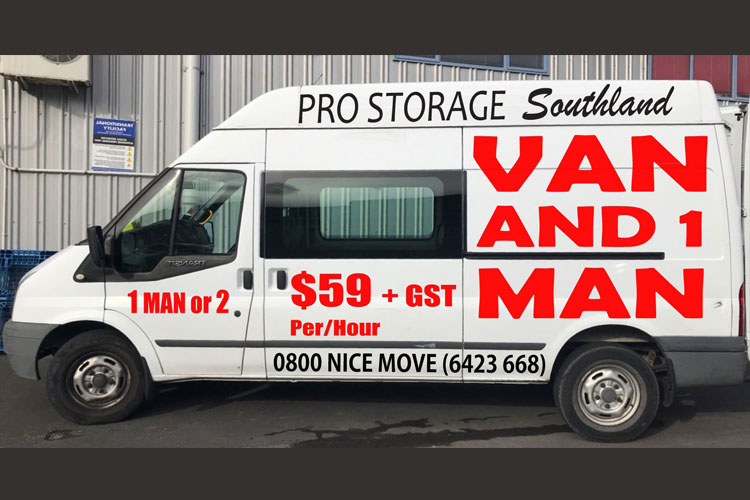 Van and 1 Man service Invercargill southland